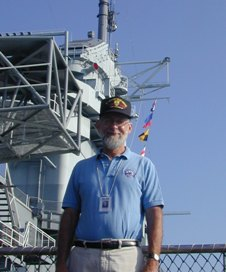 "Dr. ""Chip"" Biernbaum on the USS Yorktown, CV-10."