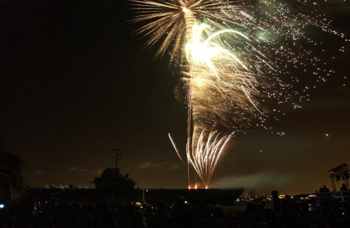 Fireworks last 4th July. (Photo by Jim Vickers, PPDA graphics artist)