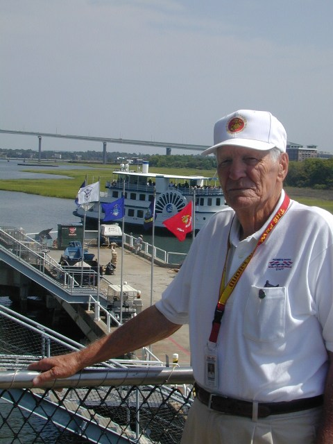 Jim Morrow, volunteer extraordinaire onboard USS Yorktown at Patriots Point.
