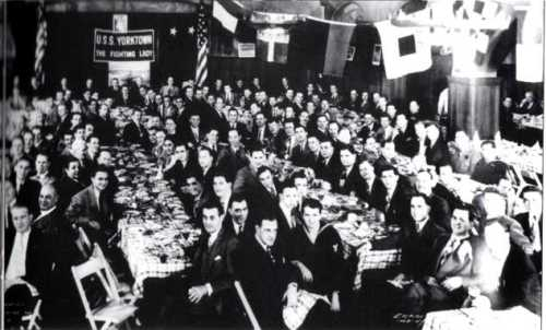 The first Yorktown Association meeting on 15 April 1948 in New York City.