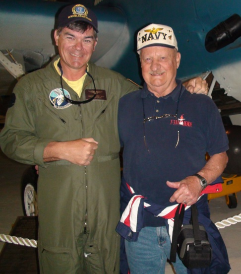 Butch Hills and Harry Milner, squadron mates in VRF-31.